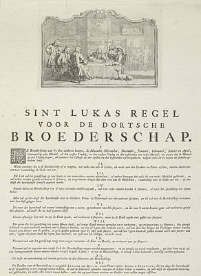 Rules Of The Brotherhood Of St Luke From Dordrecht, 1736 Art Print by Artokoloro