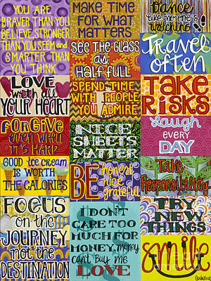Painting - Rules To Live By by Carla Bank