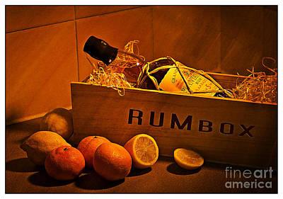 Lemon Digital Art - Rum Box Fine Art by Donald Davis