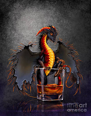 Fantasy Digital Art - Rum Dragon by Stanley Morrison