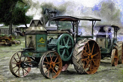 Rumely Oil Pull Ready To Roll Art Print by F Leblanc