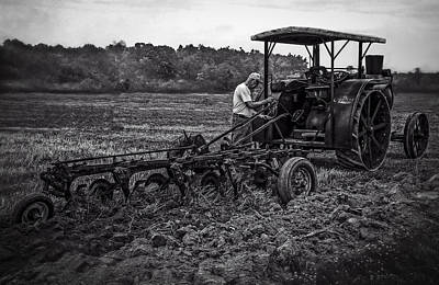 Keck Photograph - Rumley And Plow Bw by F Leblanc