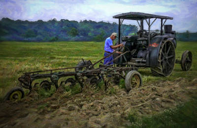 Keck Photograph - Rumley And Plow - Painting by F Leblanc