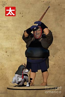 Kendo Wall Art - Digital Art - Run Away by Rotund San