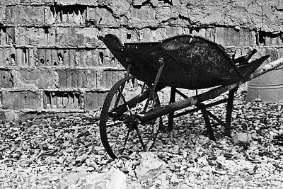 Damaged Photograph - Run-down Wheelbarrow by Christine Till