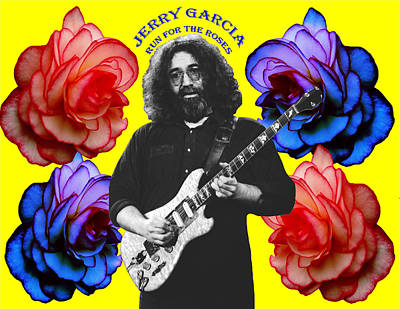Jerry Garcia Photograph - Run For The Roses by Ben Upham