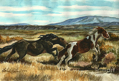 Painting - Run Little Horse by Linda L Martin
