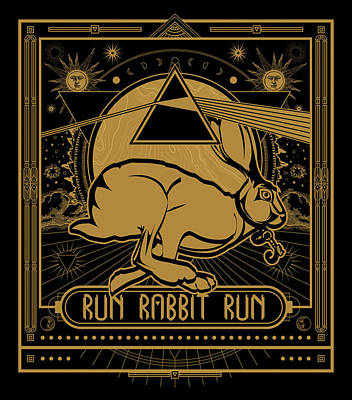 Digital Art - Run Rabbit Run by Penny Collins