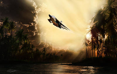 Evening Digital Art - Run Through The Jungle by Peter Chilelli