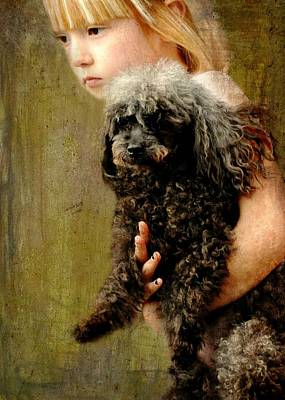 Dog Portraits From Photograph - Runaway Love by Diana Angstadt