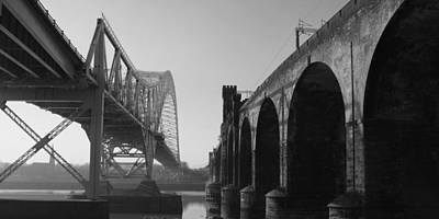 Photograph - Runcorn To Widness Bridges by Phillip Orr