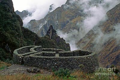 Photograph - Runkuraquay Ruins Inca Trail Peru by Craig Lovell