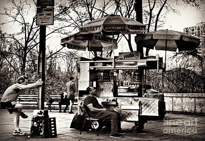 Photograph - Runner And Hot Dog Stand - Central Park by Miriam Danar