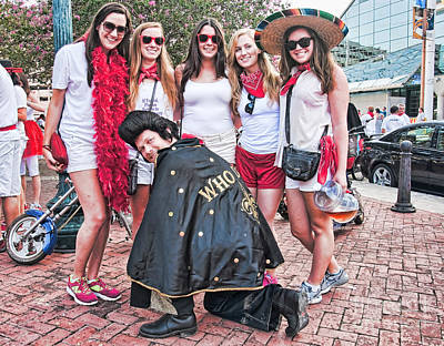 Photograph - Runners And Elvis Who Dat At Running Of The Bulls New Orleans by Kathleen K Parker