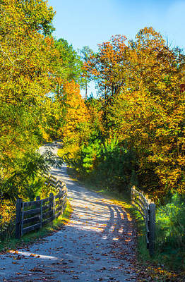 Photograph - Runner's Path In Autumn by Parker Cunningham