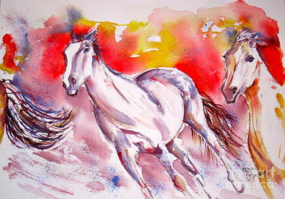 Painting - Running by Mona Mansour Jandali