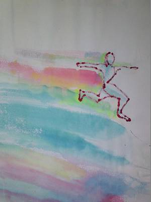 Jogging Drawing - Running 4 Life by Troix Johnson