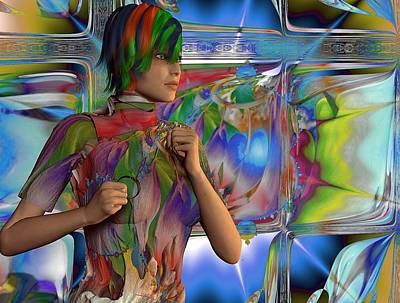 Digital Art - Running Amongst Fractals by Nancy Pauling