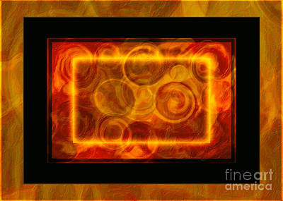 Digital Art - Running Around In Circles Abstract Healing Art by Omaste Witkowski