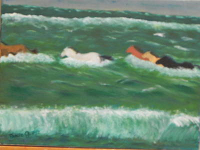Painting - Running Before The Tide by Ernie Goldberg