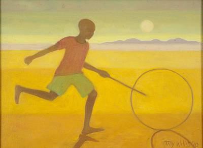 Running Boy,2010 Oil On Canvas Art Print