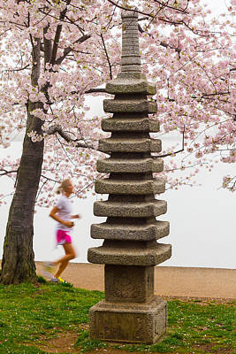 Photograph - Running By The Tidal Basin by Leah Palmer