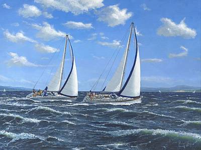 Croatia Painting - Running Close Hauled by Richard Harpum