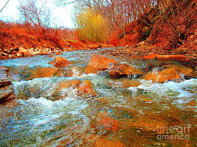 Running Creek 2 By Christopher Shellhammer Art Print
