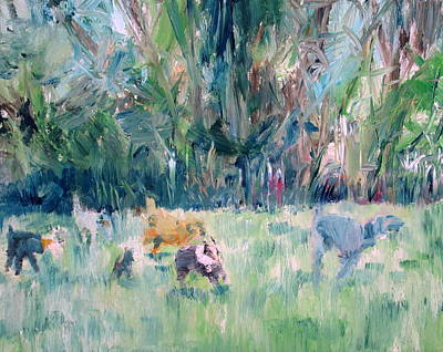 Painting - Running Dogs by Fabrizio Cassetta
