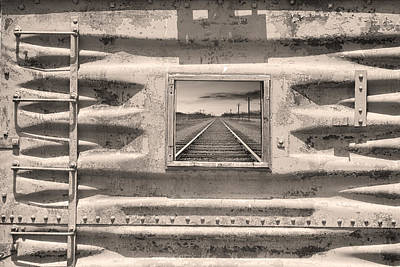 Photograph - Running Down The Line Sepia by James BO  Insogna