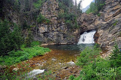 Photograph - Running Eagle Falls by Cindy Murphy - NightVisions