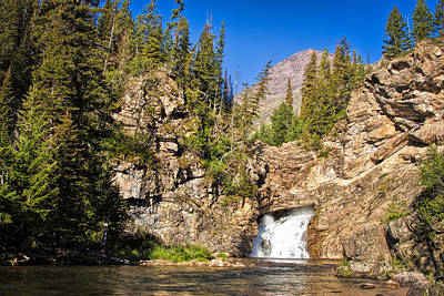 Photograph - Running Eagle Falls - Glacier National Park by Shari Jardina