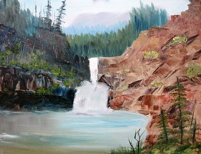Running Eagle Falls Art Print