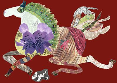 Running Free Art Print by Doveen Schecter