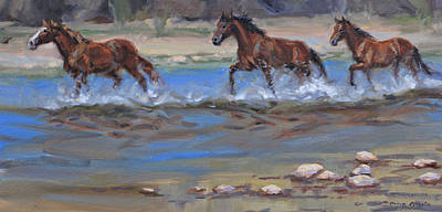 Painting - Running Free by Karen McLain