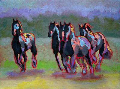 Painting - Running Horses by Carol Jo Smidt