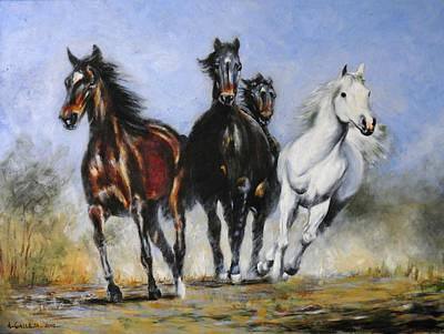Painting - Running Horses by Tony Calleja