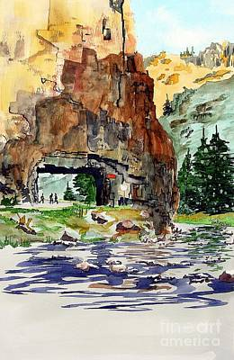 Running In The Poudre Canyon Art Print by Tom Riggs