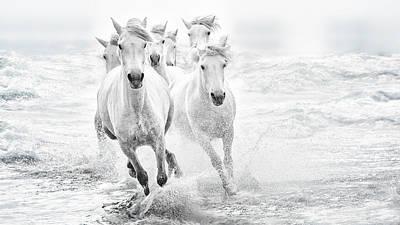Running In The Sea Art Print