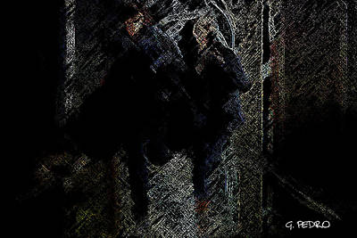 Digital Art - Running In The Shadows by George Pedro