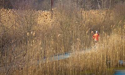 Running Man Art Print by Richie Stewart