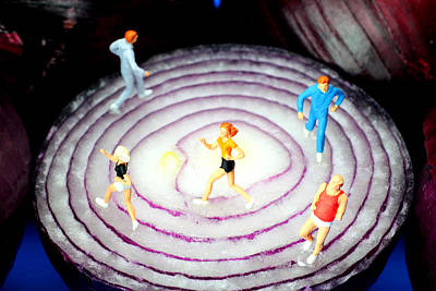Photograph - Running On Red Onion Little People On Food by Paul Ge