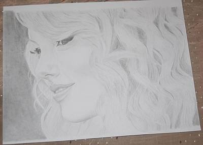 Taylor Swift Drawing - Running Out Of Names by Richie Wentworth