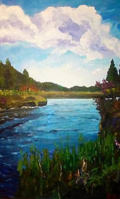 Painting - Running River by Ray Khalife