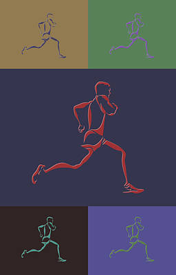 Running Runner Art Print by Joe Hamilton
