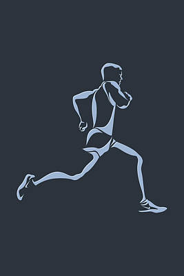 Running Runner12 Art Print by Joe Hamilton