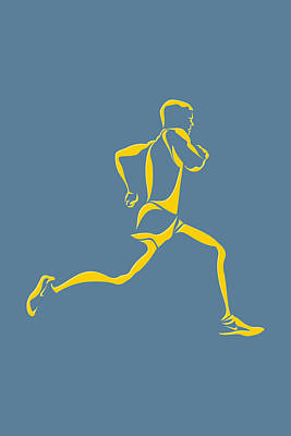 Running Runner13 Art Print by Joe Hamilton
