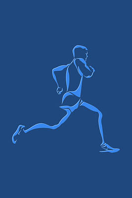 Running Runner15 Art Print by Joe Hamilton