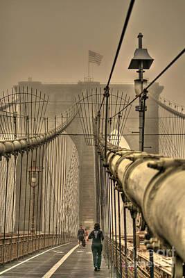 Photograph - Running The Bridge In Fog by David Bearden