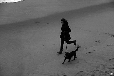 Photograph - Running The Dog by John Meader